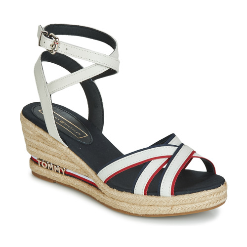 Shoes Women Sandals Tommy Hilfiger ICONIC ELBA CORPORATE RIBBON White
