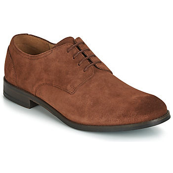 Shoes Men Derby Shoes Clarks FLOW PLAIN Brown