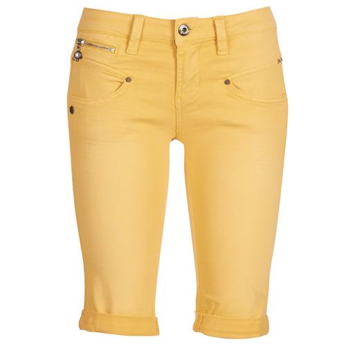 Clothing Women Shorts / Bermudas Freeman T.Porter Belixa New Magic Color Yellow