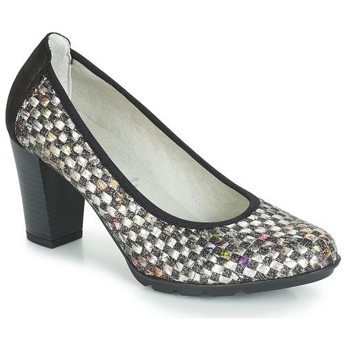 Shoes Women Heels Dorking 7736 Grey / Black