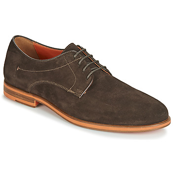 Shoes Men Derby Shoes Geox BAYLE Brown