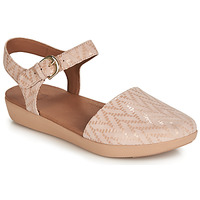 Shoes Women Sandals FitFlop COVA II CHEVRON Oyster / Pink