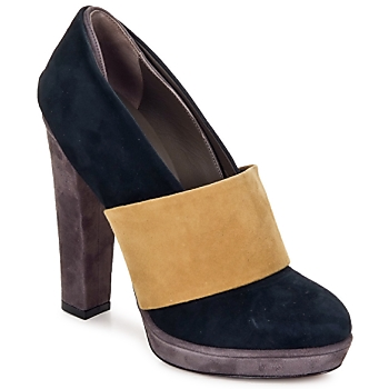 Shoes Women Heels Kallisté BOTTINE 5854 Grey-mustard