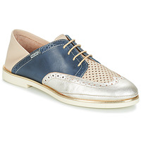 Shoes Women Derby Shoes Pikolinos SANTORINI W3V Beige / Blue / Silver