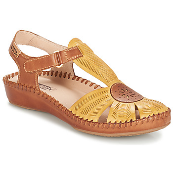 Shoes Women Sandals Pikolinos P. VALLARTA 655 Yellow / Camel