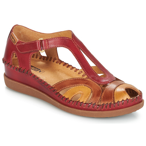 Shoes Women Sandals Pikolinos CADAQUES W8K Red / Camel