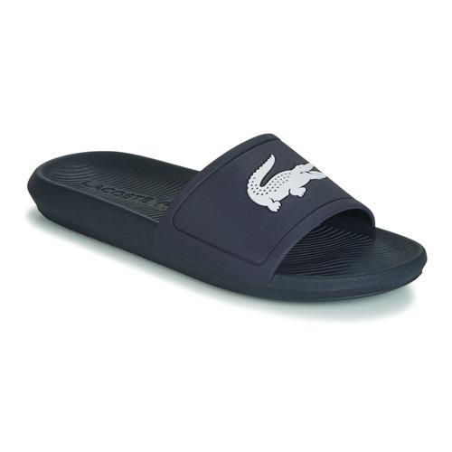 Shoes Men Sliders Lacoste CROCO SLIDE 119 1 Marine / White