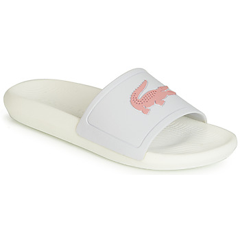 Shoes Women Sliders Lacoste CROCO SLIDE 119 3 White / Pink