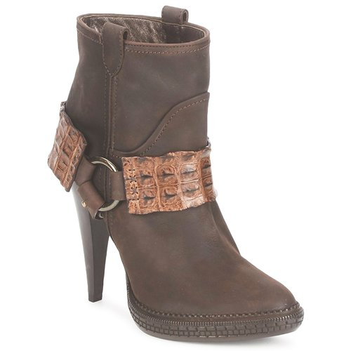 Shoes Women Ankle boots Roberto Cavalli QPS577-PK206 Brown