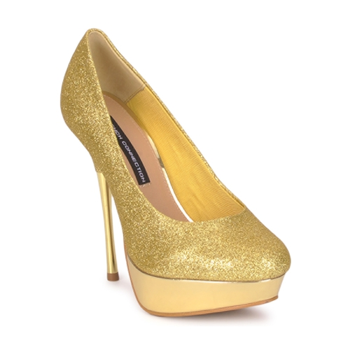 Shoes Women Heels French Connection JEZABEL Gold