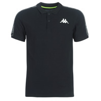 Clothing Men short-sleeved polo shirts Kappa GASTO Black