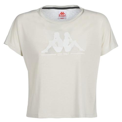 Clothing Women short-sleeved t-shirts Kappa YERRI Beige / Grey
