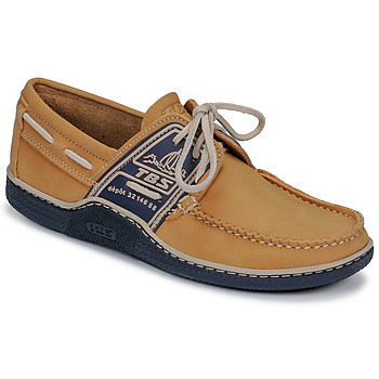 Shoes Men Boat shoes TBS GLOBEK Yellow / Marine