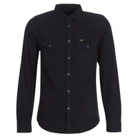 Clothing Men Long-sleeved shirts Lee LEE WESTERN SHIRT Black