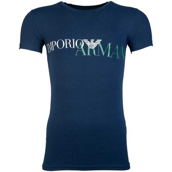 Clothing Men short-sleeved t-shirts Armani T Shirt 111035 8A516 blue