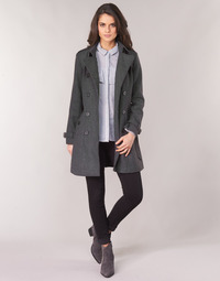 Clothing Women Coats Casual Attitude HAIELLI Grey