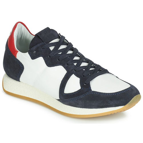 Shoes Women Low top trainers Philippe Model MONACO VINTAGE BASIC White / Marine