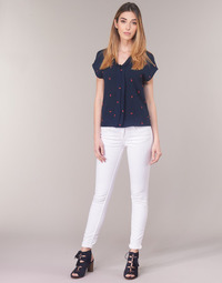 Clothing Women 5-pocket trousers Le Temps des Cerises 317 White