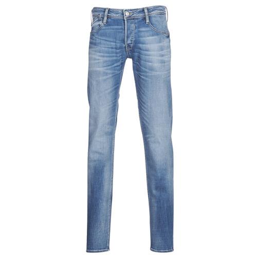 Clothing Men Slim jeans Le Temps des Cerises 711 Blue