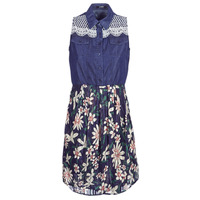 Clothing Women Short Dresses Desigual ALOHA Marine