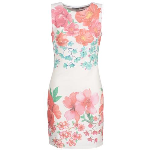 Clothing Women Short Dresses Desigual YAQUEL White