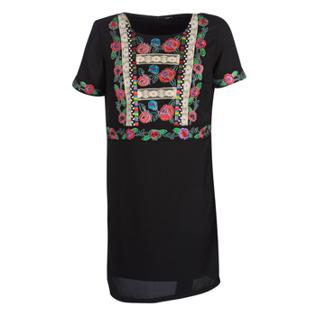 Clothing Women Short Dresses Desigual TRALEE Black