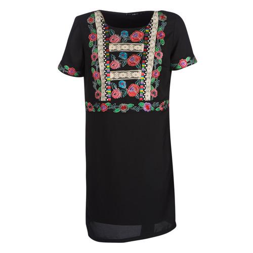 Clothing Women Short Dresses Desigual TRALEE Black