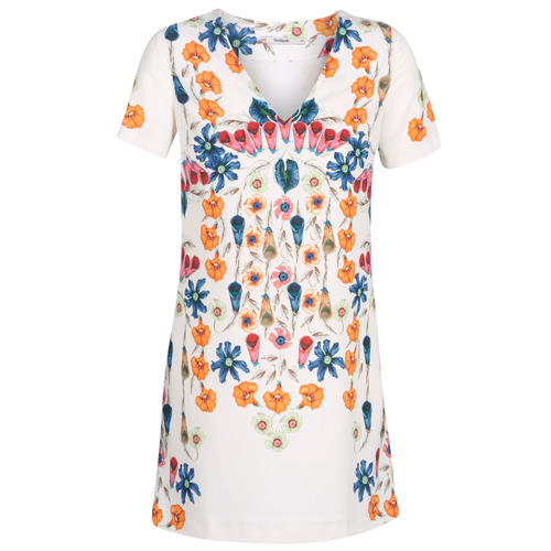 Clothing Women Short Dresses Desigual CORK White