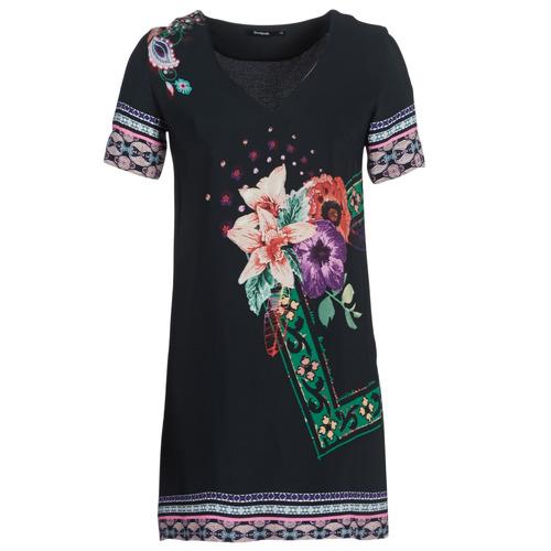 Clothing Women Short Dresses Desigual BARTA Black