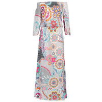 Clothing Women Long Dresses Desigual DERA White