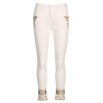 Clothing Women straight jeans Desigual SARI WHITE Marine
