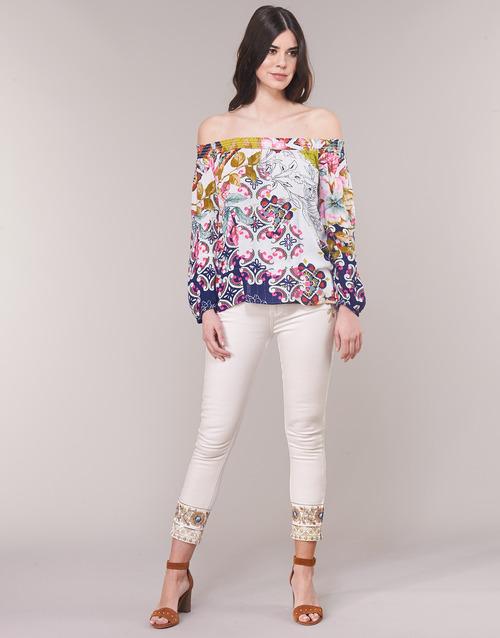 Clothing Women straight jeans Desigual SARI WHITE Marine