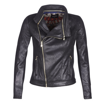 Clothing Women Leather jackets / Imitation leather Desigual MARBLE Black