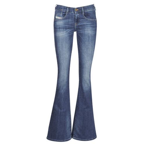 Clothing Women Bootcut jeans Diesel EBBEY Blue