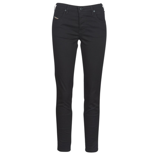 Clothing Women slim jeans Diesel BABHILA Black