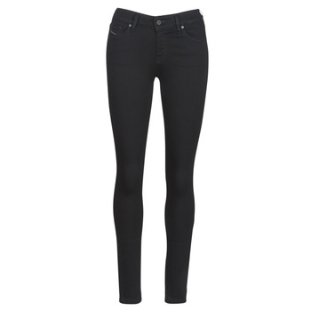 Clothing Women slim jeans Diesel SLANDY Black