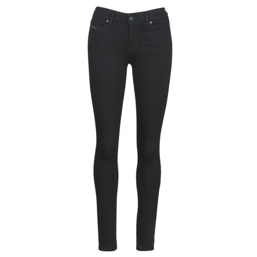 Clothing Women slim jeans Diesel SLANDY Black