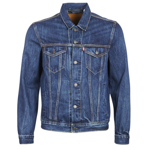 Clothing Men Denim jackets Levi's THE TRUCKER JACKET Blue / Dark