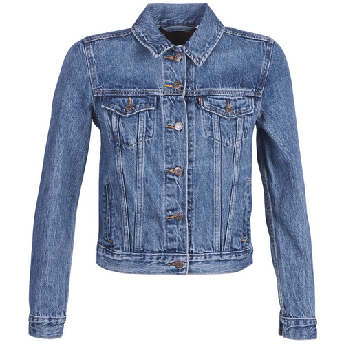 Clothing Women Denim jackets Levi's ORIGINAL TRUCKER Blue / Medium