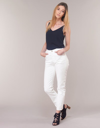 Clothing Women straight jeans Levi's 501 CROP In / Tea / Clouds