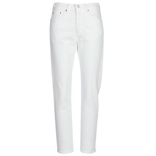 Clothing Women Boyfriend jeans Levi's 501 CROP In / Tea / Clouds