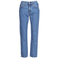 Clothing Women Boyfriend jeans Levi's 501 CROP Blue