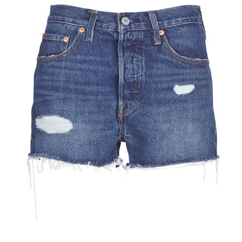 Clothing Women Shorts / Bermudas Levi's 502 HIGH RISE SHORT Blue / Medium