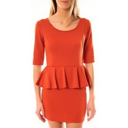 Clothing Women Short Dresses Tcqb Robe Moda Fashion Orange Orange