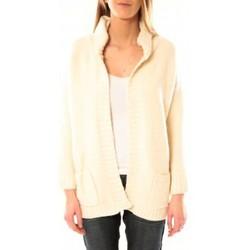 Clothing Women Jackets / Cardigans De Fil En Aiguille Gilet Sophyline & CO 1147 Écru Beige