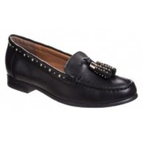 Shoes Women Loafers Ilario Ferucci Mocassins Danyel Noir Black