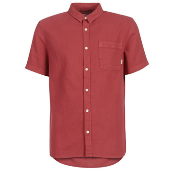 Clothing Men Short-sleeved shirts Quiksilver TIMEBOX Red
