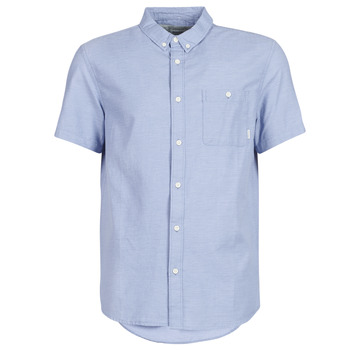 Clothing Men short-sleeved shirts Quiksilver WATERFALL Blue / Clear