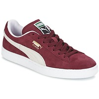 Shoes Low top trainers Puma SUEDE CLASSIC Red / White