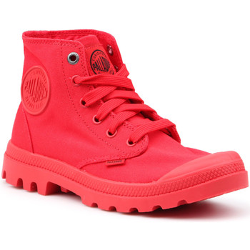 Shoes Women Hi top trainers Palladium Mono Chrome 73089-600-M red